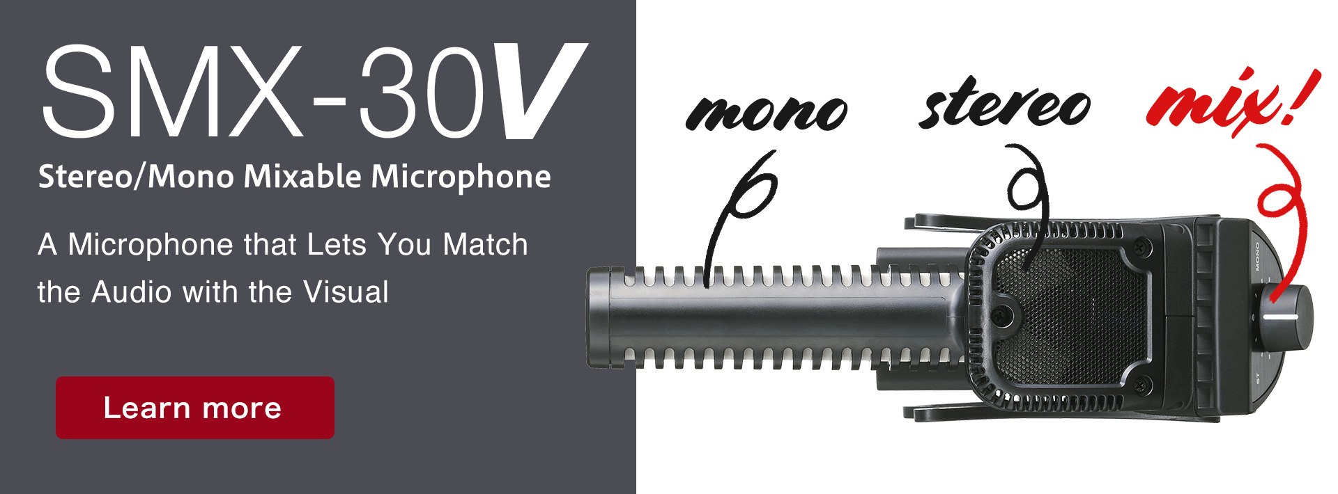 SMX-30V Stereo/Mono Mixable Microphone